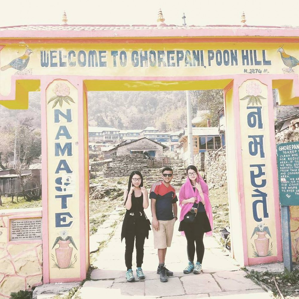 the maximum elevation of Ghorepani trek is 3210 m at Poonhill from where you can see the glimpse of the sunrise over the Annapurna panorama, the picturesque views of the Dhaulagiri and Annapurna range.