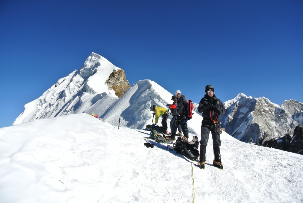 one is Lobuche West (6145m). Lobuche Peak actually located at North West of Everest base camp on the way to Lobuche valley is one of the moderately challenging peak climbing.